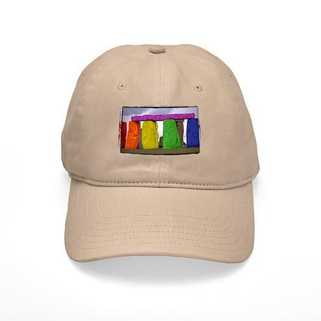 Rainbow Stonehenge Cap