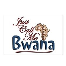 Just Call Me Bwana - Postcards (Package of 8)