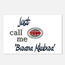 Just Call Me 'Bwana Mkubwa' Postcards (Package of
