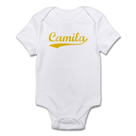Vintage Camila (Orange) Infant Bodysuit