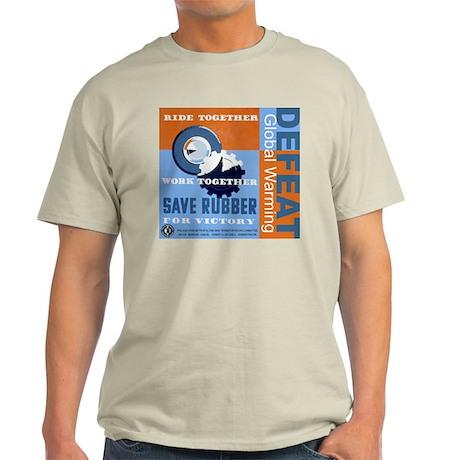 Defeat Global Warming Light T-Shirt