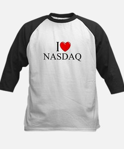 """I Love (Heart) NASDAQ"" Kids Baseball Jersey"