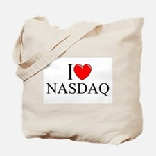 """I Love (Heart) NASDAQ"" Tote Bag"