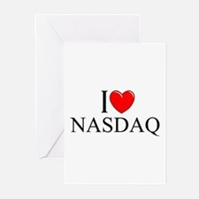"""I Love (Heart) NASDAQ"" Greeting Cards (Pk of 10)"
