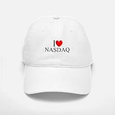 """""""I Love (Heart) NASDAQ"""" Baseball Baseball Cap"""