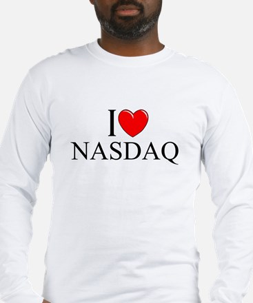 """I Love (Heart) NASDAQ"" Long Sleeve T-Shirt"