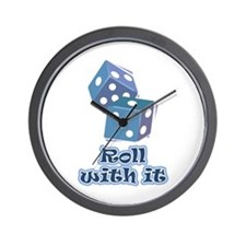 Roll with it Wall Clock