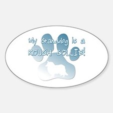 Rough Collie Granddog Oval Decal