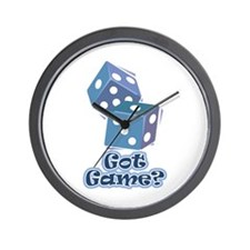 Got Game? (dice) Wall Clock