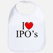 """I Love (Heart) IPO's"" Bib"