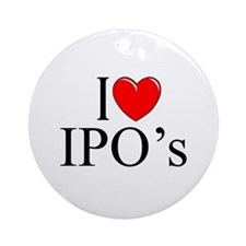 """I Love (Heart) IPO's"" Ornament (Round)"