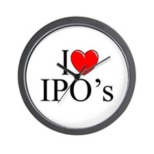 """I Love (Heart) IPO's"" Wall Clock"