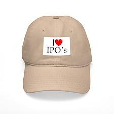 """""""I Love (Heart) IPO's"""" Baseball Cap"""