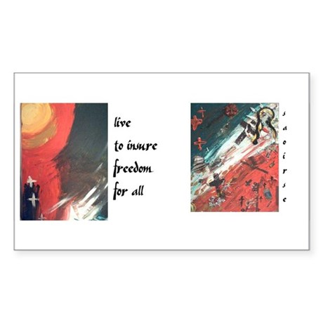 Paintings Rectangle Sticker