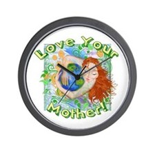 Love Your Mother Earth Wall Clock