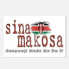 Sina Makosa - Postcards (Package of 8)