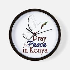 Pray for Peace in kenya - Wall Clock