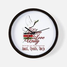 Pray for Kenya - Wall Clock