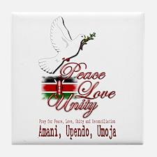Pray for Kenya - Tile Coaster