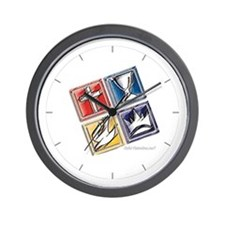 Unique A squared Wall Clock