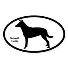 Smooth Collie Silhouette Sticker (Euro Style)