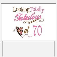 Fabulous 70th Yard Sign