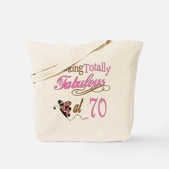 Fabulous 70th Tote Bag