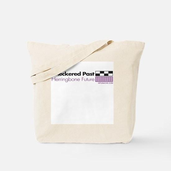 CHECKERED PAST HERRINGBONE FUTURE Tote Bag