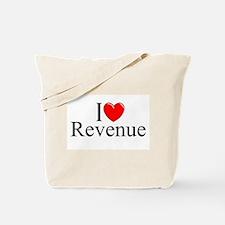 """I Love (Heart) Revenue"" Tote Bag"