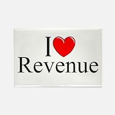 """""""I Love (Heart) Revenue"""" Rectangle Magnet"""