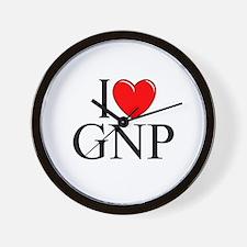 """I Love (Heart) GNP"" Wall Clock"