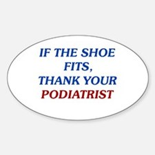Thank Your Podiatrist Oval Decal