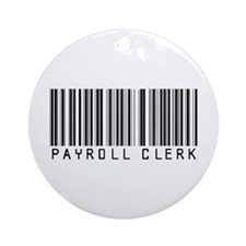 Payroll Clerk Barcode Ornament (Round)