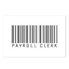 Payroll Clerk Barcode Postcards (Package of 8)