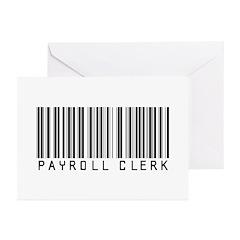 Payroll Clerk Barcode Greeting Cards (Pk of 20)
