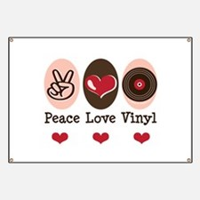Peace Love Vinyl Record Banner