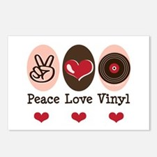 Peace Love Vinyl Record Postcards (Package of 8)