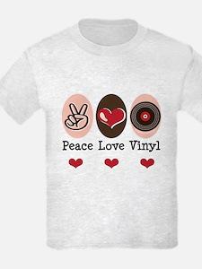 Peace Love Vinyl Record T-Shirt