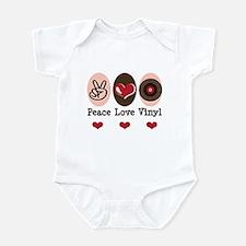 Peace Love Vinyl Record Infant Bodysuit