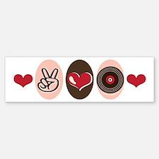 Peace Love Vinyl Record Bumper Bumper Bumper Sticker