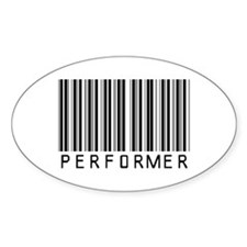 Performer Barcode Oval Decal