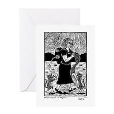 Knitting Pilgrim Greeting Card