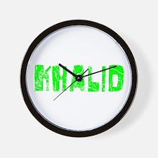 Khalid Faded (Green) Wall Clock