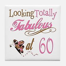 Fabulous 60th Tile Coaster