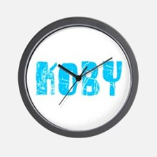 Koby Faded (Blue) Wall Clock