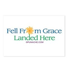 FELL FROM GRACE LANDED HERE Postcards (Package of