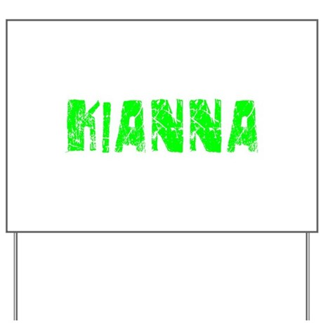 Kianna Faded (Green) Yard Sign