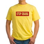 Stop Obama Yellow T-Shirt