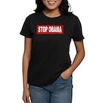 Stop Obama Women's Dark T-Shirt