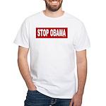 Stop Obama White T-Shirt